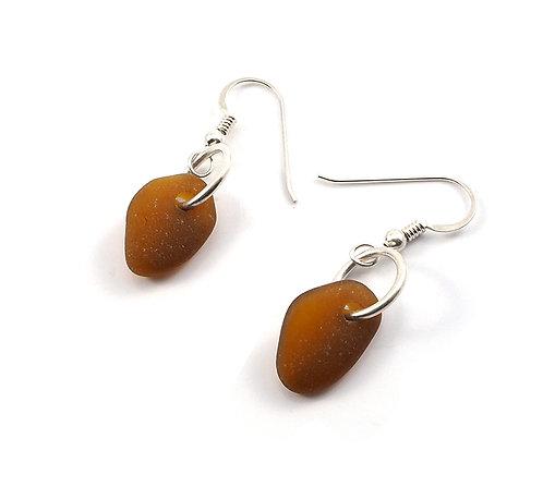 Amber Single Piece Earrings