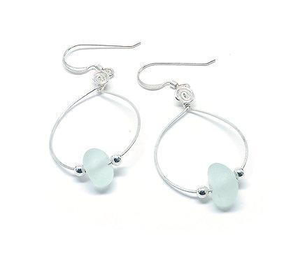 Seafoam Small Hoop Earrings