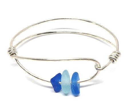 Cobalt and Sea Foam Sea foam Bracelet
