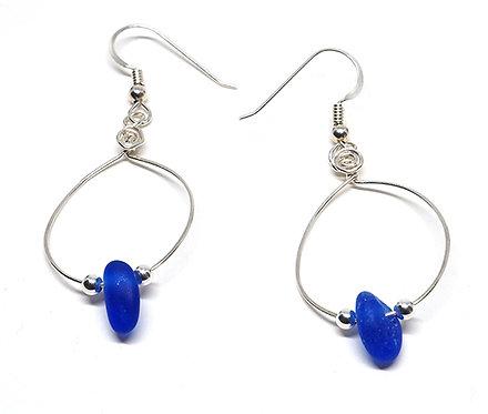 Cobalt Small Hoop Earrings
