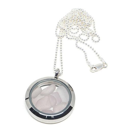 Lilac Locket Necklace