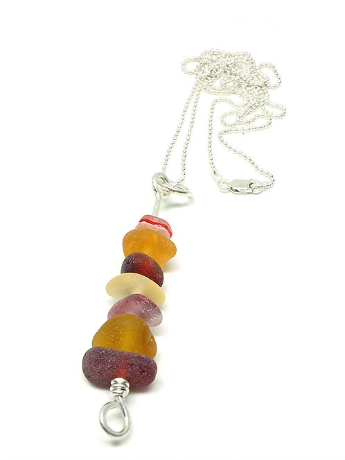 Very Rare Multi-Colored Large Stacked Necklace
