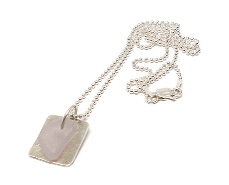 Lilac Dog Tag Necklace