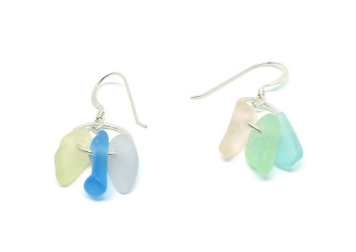 Mismatched 6 pastel color earrings