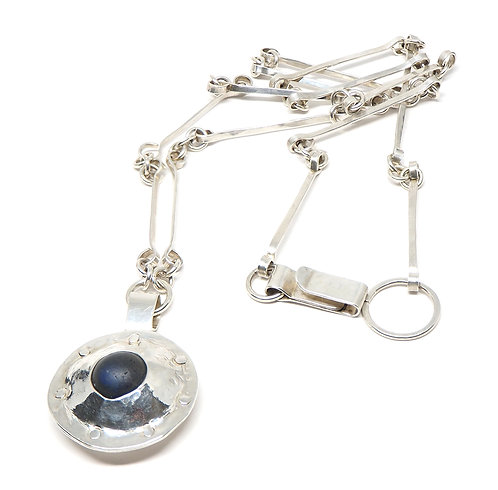 Porthole/UFO with Marble Insert Necklace