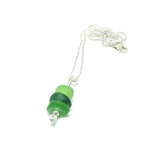 Green Medley Small Stacked Necklace