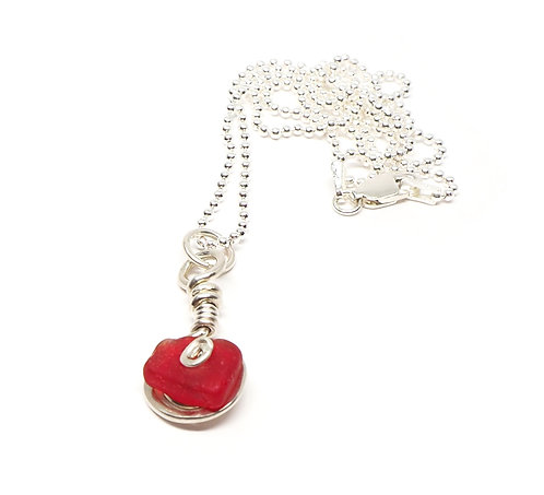 Rare Red Swirl Necklace