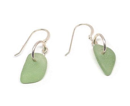 Light Khaki Glass Earrings