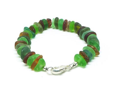 Green, Khaki and Amber Bracelet