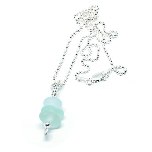 Sea Foam Small Stacked Necklace