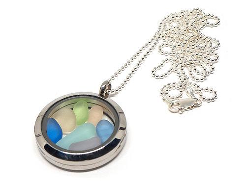 Pastel Mix Locket Necklace