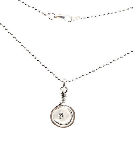Clear Frosted Glass Swirl Necklace