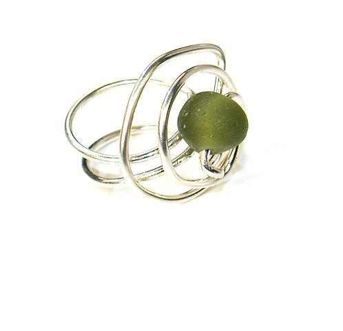 Khaki Spiral Ring