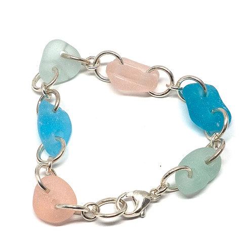 Pastel Mix Sea Glass Bracelet