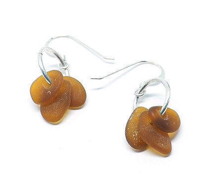 Brown Three Piece Earrings
