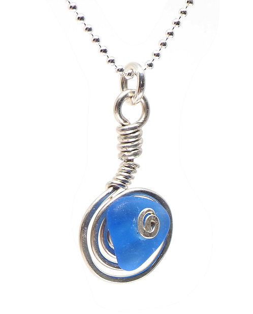 Cobalt Spiral Necklace