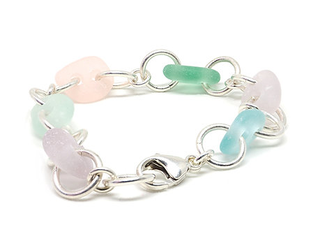 Pastel Mix Sea Glass Bracelet