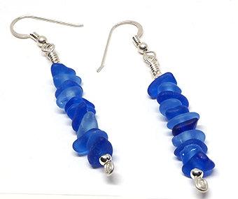 Cobalt Stacked Earrings