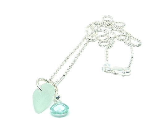 Seafoam and semi precious stone necklace