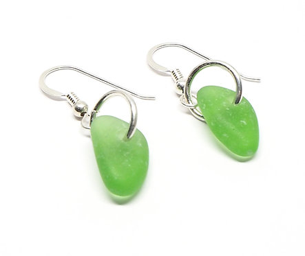 Green Single Pendant Earrings
