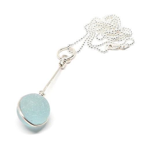 Light Sea Foam Marble Necklace