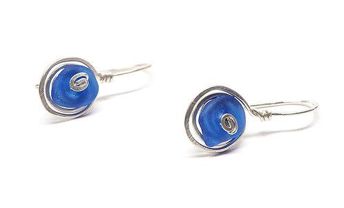 Cobalt Swirl Earrings