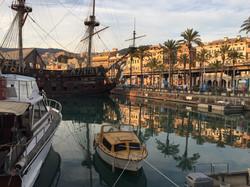 Pirate ship in Genova marina.JPG
