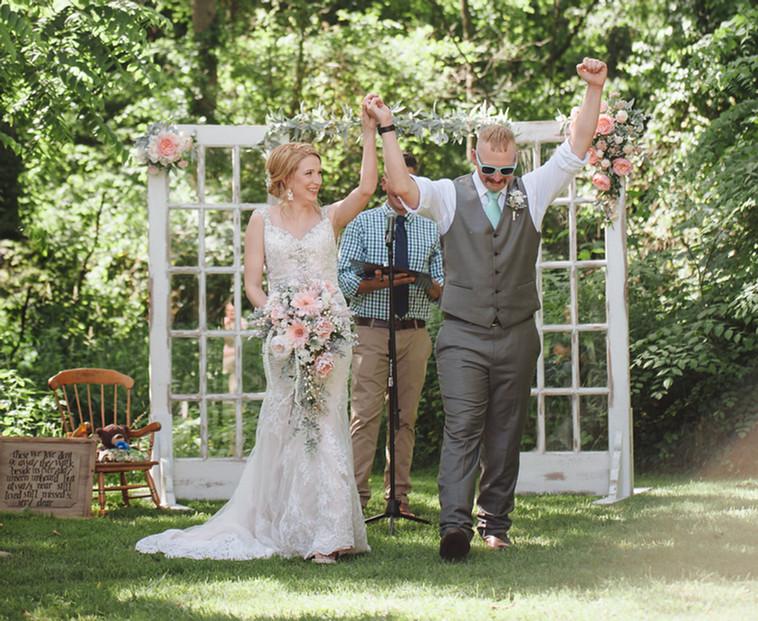 The One with Cortney and Jon's Elegant Backyard Wedding
