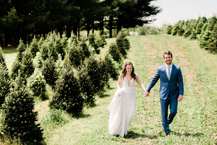 The One with Eileen and Mike's Spring Christmas Tree Wedding