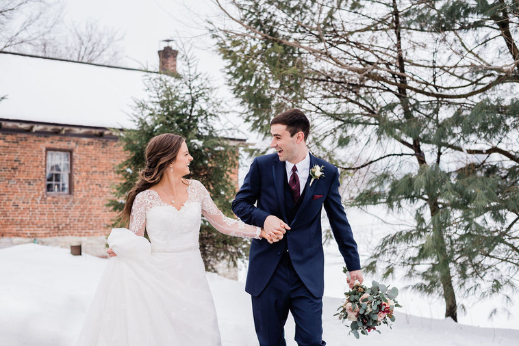 The One with Jon and Lydia's Snowy March Wedding
