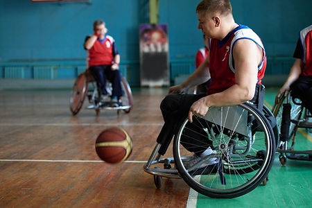 Disabled Athletes Playing Basketball