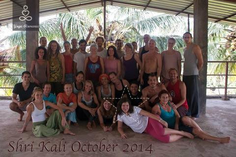 Daiana Radulescu at Shri Kali Ashram in India, 2014, becoming a yoga teacher