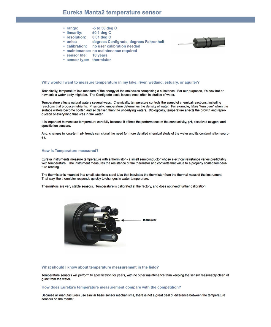 Temperature Sensor  information and specifications
