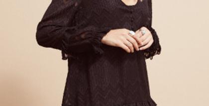 Robe courte en voile noire