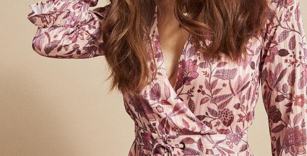 Robe longue cache-coeur NUDE