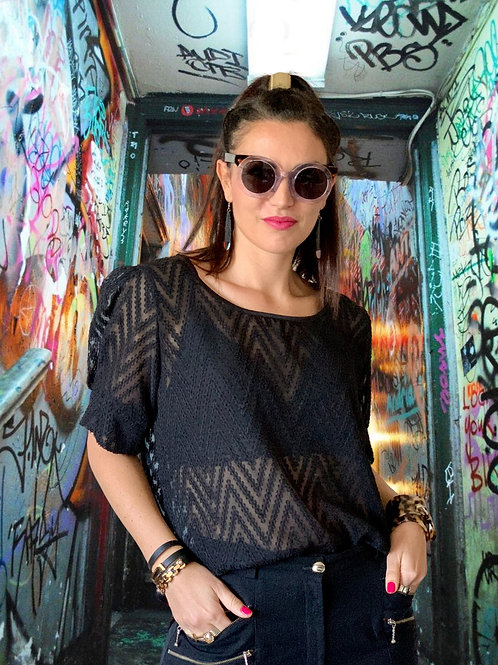 About A Girl Top - Black
