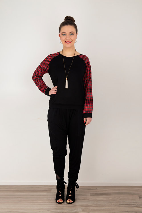 Loaded Top - Black / Red Check