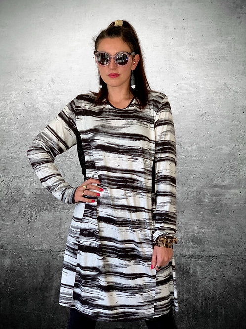 Rock The Park Dress - Black / White