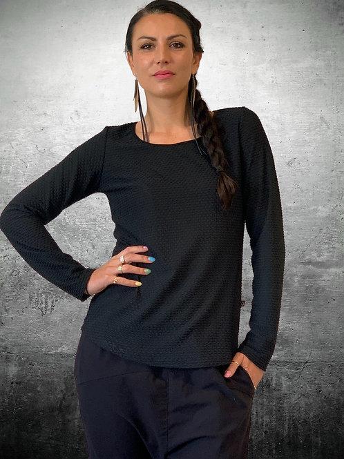 Texture Top - Black