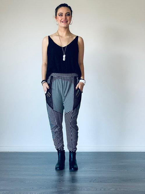 Freestyle Pants - Black Stripe - Size 10