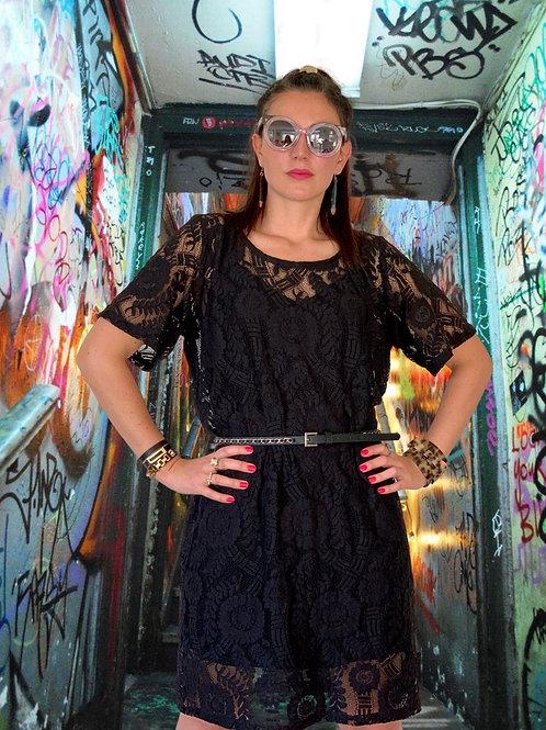 (WS) Eclipse Dress - Black Lace
