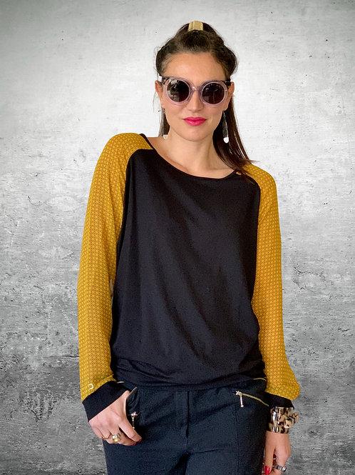 Loaded Top - Black / Mustard - Size XS