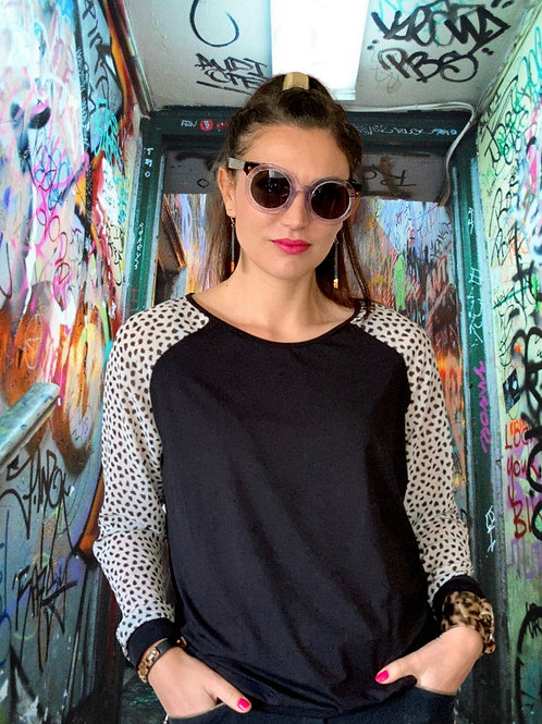 (WS) Loaded Top - Black / White