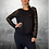 Thumbnail: Loaded Top - Black / Lace - Size S