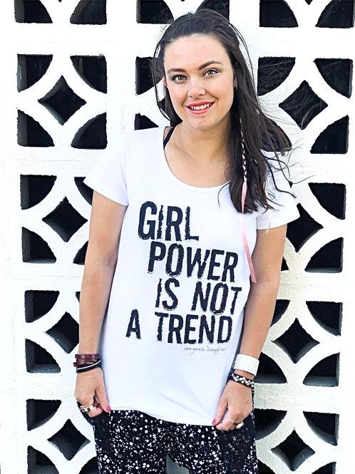 Girl Power Tee - White - Size L