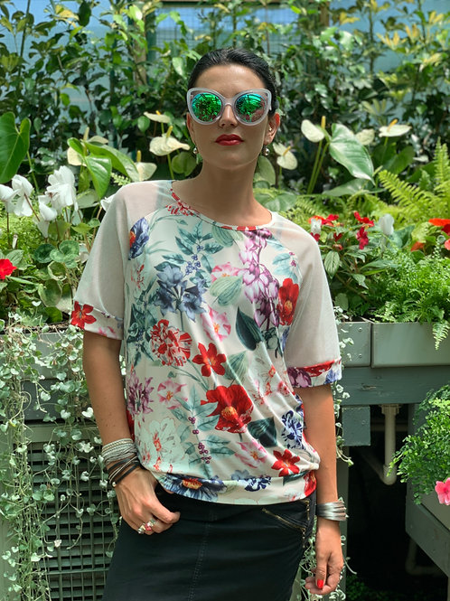 (WS) Love Potion Top -Floral / White