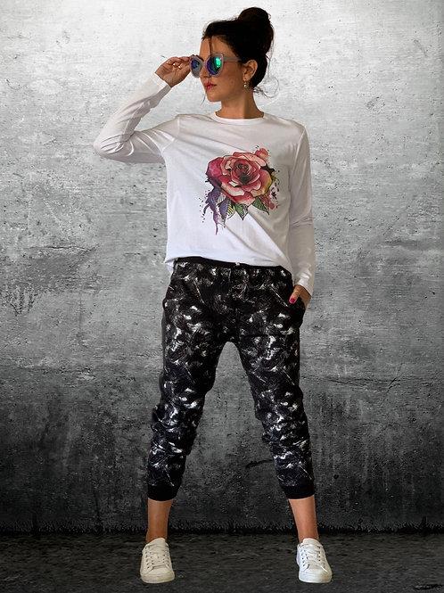 (WS) Kickback Pants - Black / White