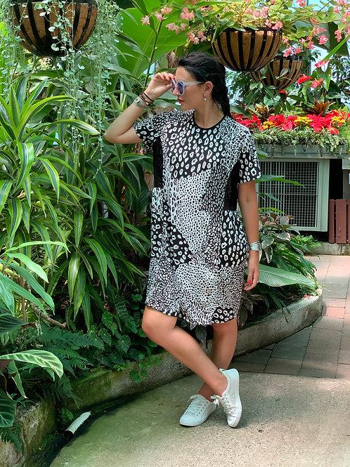 Rock The Park Dress - Black / White