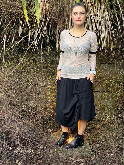 Fall In Line Skirt - Black