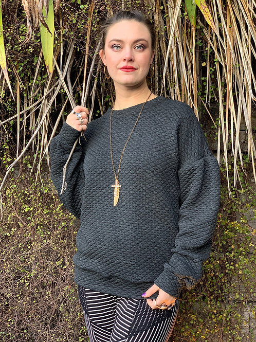 Social Sweater - Charcoal